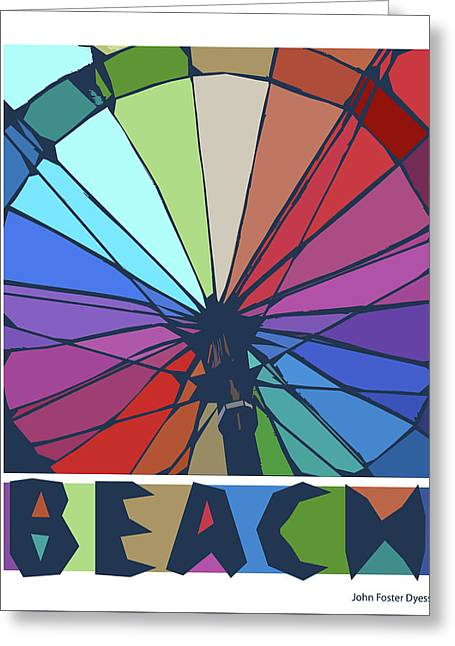 Beach Design By John Foster Dyess Greeting Card