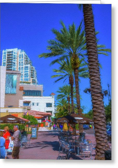 Beach Dr. St. Petersburg Florida Greeting Card by Marvin Spates