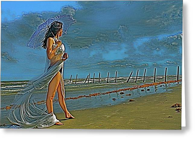 Galveston Greeting Cards - Beach Dreams Greeting Card by Alison Mae Photography