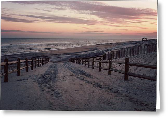 Beach Entrance Lbi New Jersey Vintage  Greeting Card