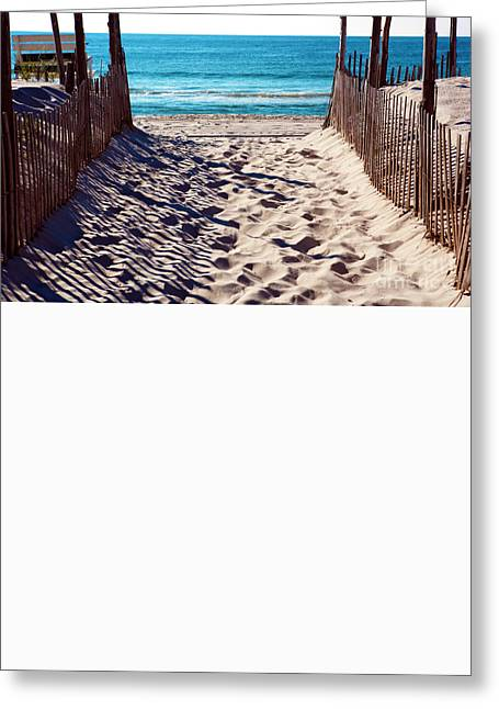 Beach Entry Greeting Card