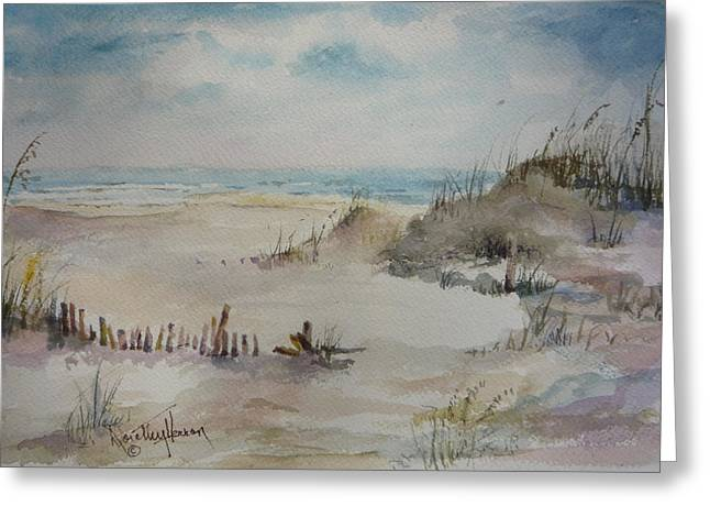 Beach Fence Greeting Card by Dorothy Herron