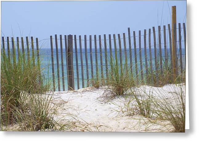 James R Granberry Greeting Cards - Beach Fence Greeting Card by James Granberry