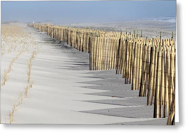 Beach Fence Shirley New York Greeting Card