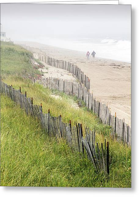 Beach Fences In A Storm Greeting Card