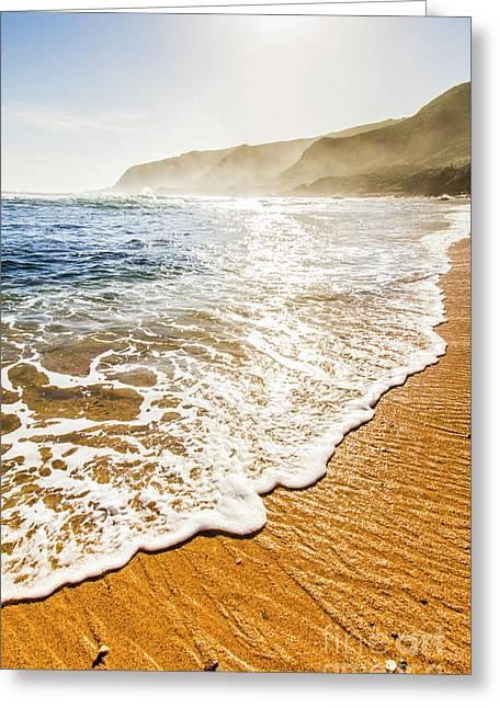 Beach Fine Art Greeting Card by Jorgo Photography - Wall Art Gallery