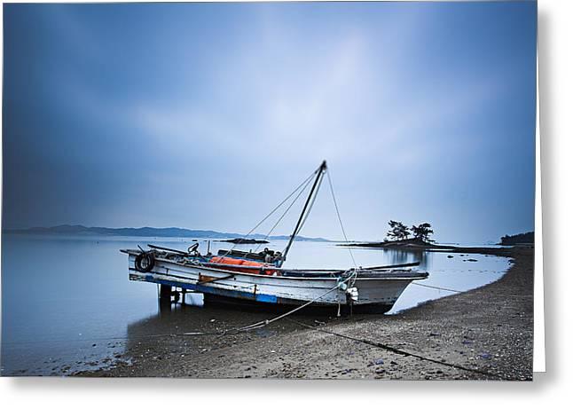 Beach Fishing Boat Greeting Card