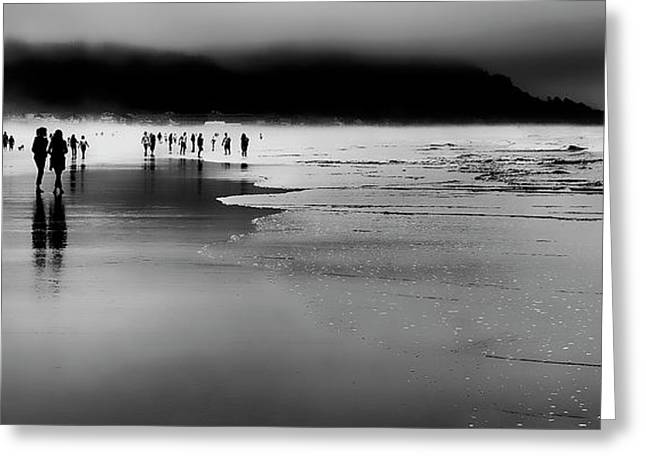 Beach Fog Greeting Card by David Patterson