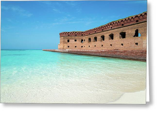 Beach Fort Greeting Card by Kristopher Schoenleber