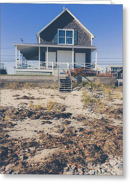 Beach Front Cottage Greeting Card by Edward Fielding