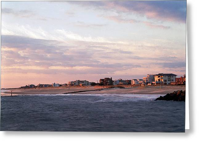 Beach Front Homes Virginia Beach Va Greeting Card by Panoramic Images