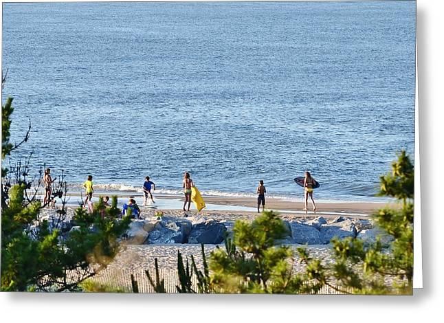 Beach Fun At Cape Henlopen Greeting Card