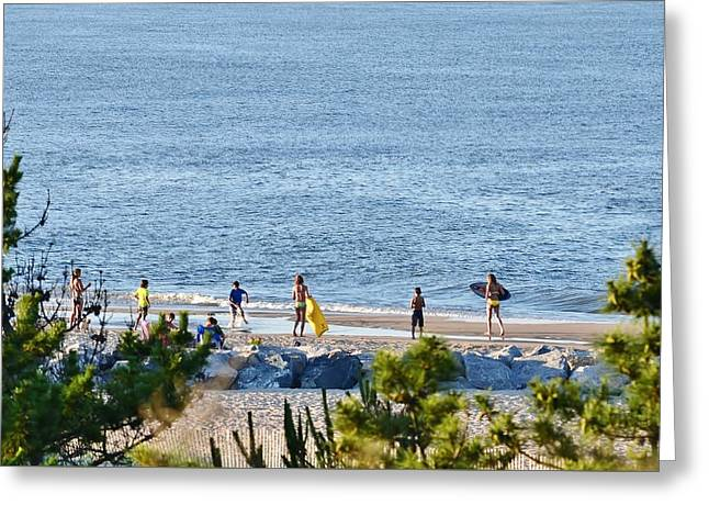 Beach Fun At Cape Henlopen Greeting Card