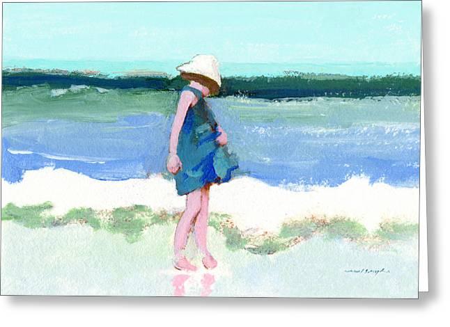 Beach Girl Greeting Card