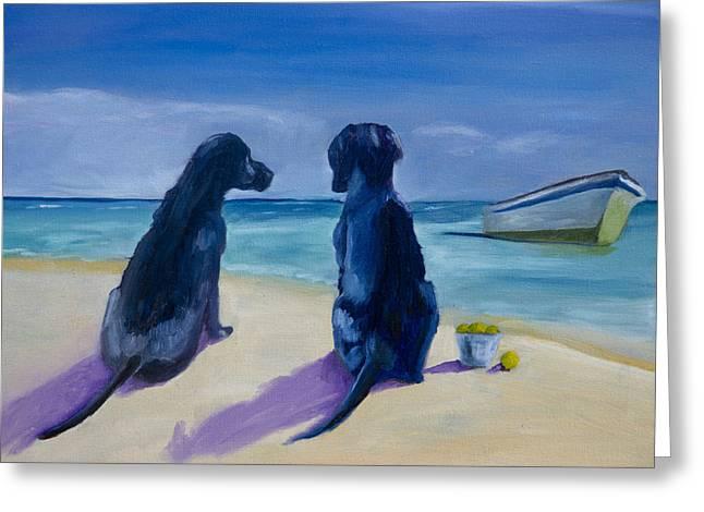 Beach Girls Greeting Card by Roger Wedegis