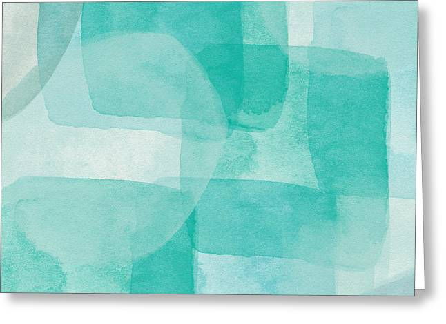 Beach Glass- Abstract Art By Linda Woods Greeting Card