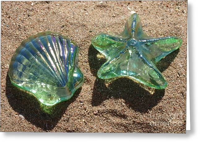 Beach Glass Greeting Card by Cindy Lee Longhini