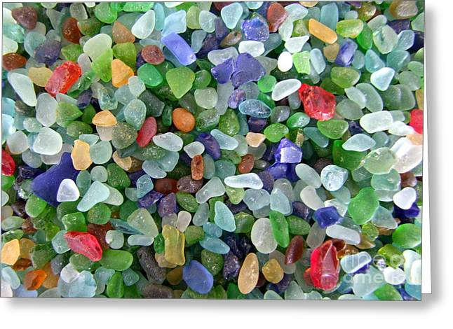Mary Deal Greeting Cards - Beach Glass Mix Greeting Card by Mary Deal