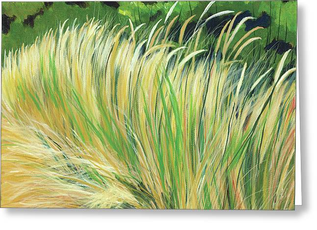 Beach Grass 4 Greeting Card by Melody Cleary