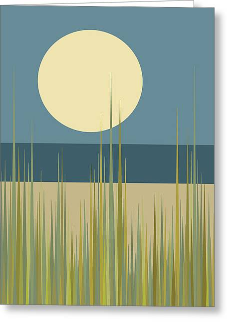 Beach Grass Greeting Card by Val Arie