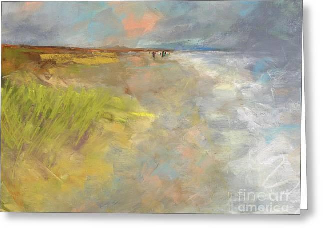 Beach Grasses Greeting Card by Frances Marino