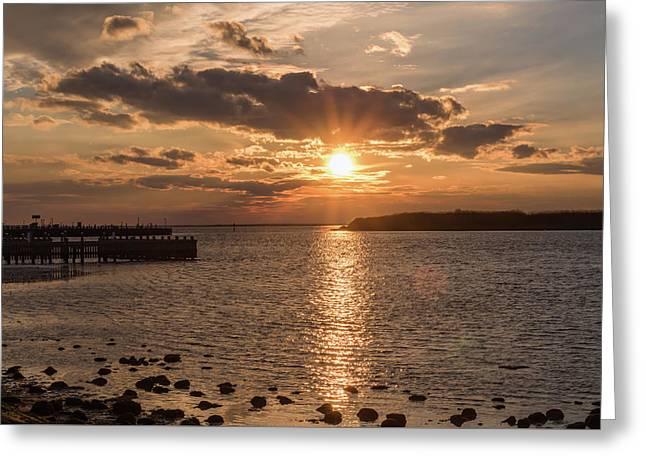 Beach Haven Nj Sunset January 2017 Greeting Card