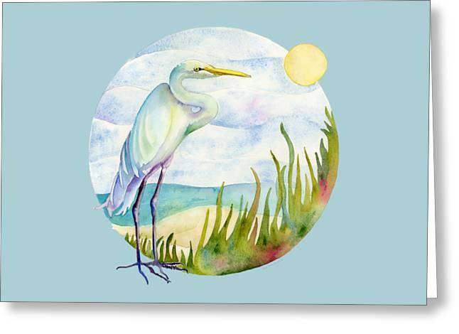 Beach Heron Greeting Card
