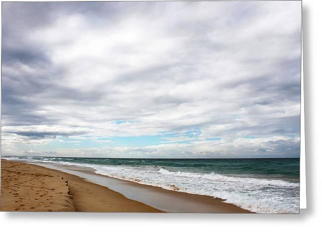Beach Horizon - Surfer's Paradise Greeting Card