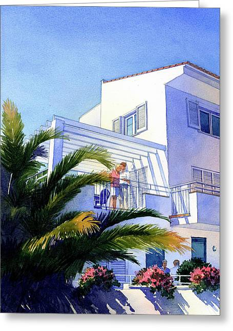 Beach House At Figueres Greeting Card