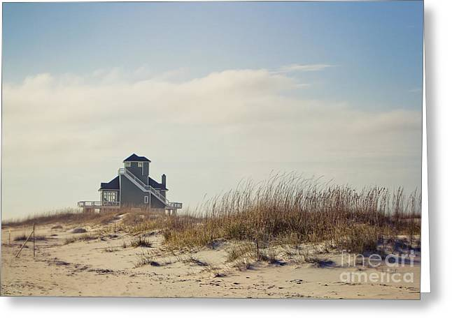 Beach House Greeting Card by Joan McCool