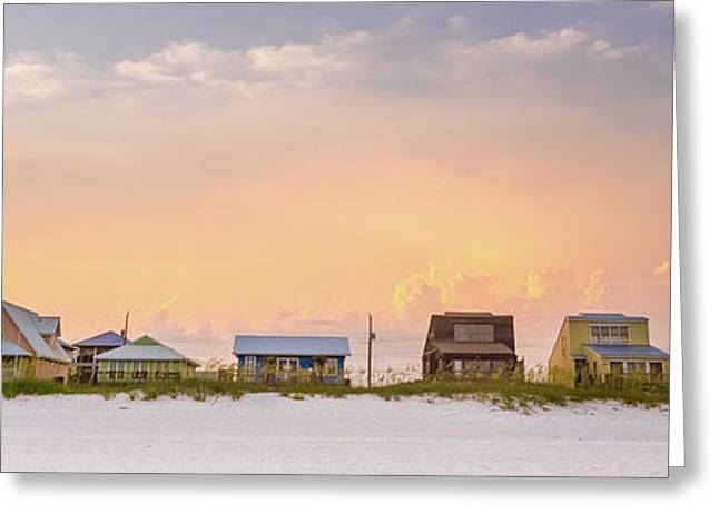 Beach House Sunset Greeting Card