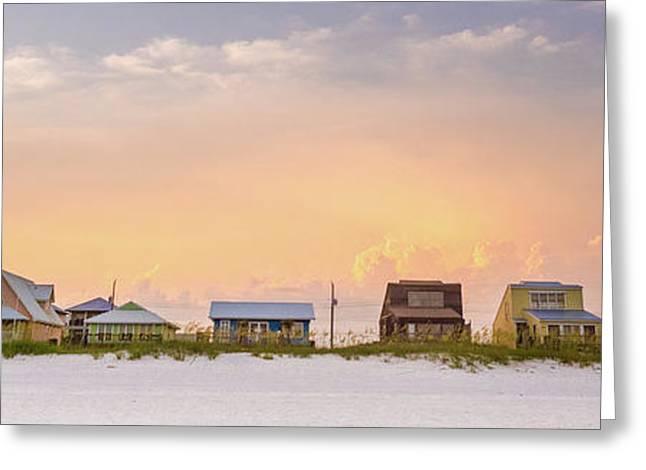 Beach House Sunset Greeting Card