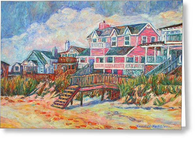 Beach Houses At Pawleys Island Greeting Card