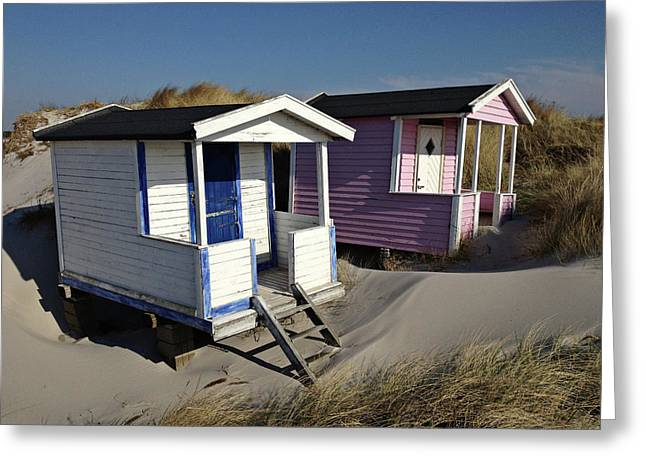 Beach Houses At Skanor Greeting Card