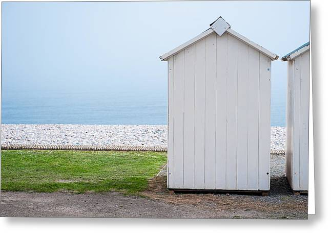 Beach Hut By The Sea Greeting Card