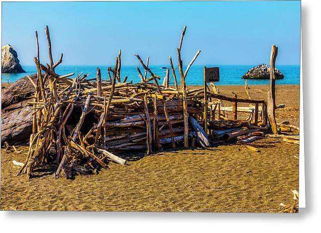 Beach Hut Sonoma Coast Greeting Card
