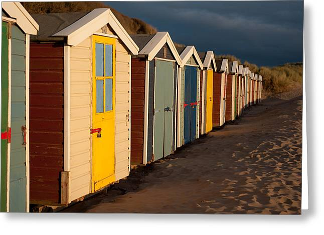 Beach Huts II Greeting Card