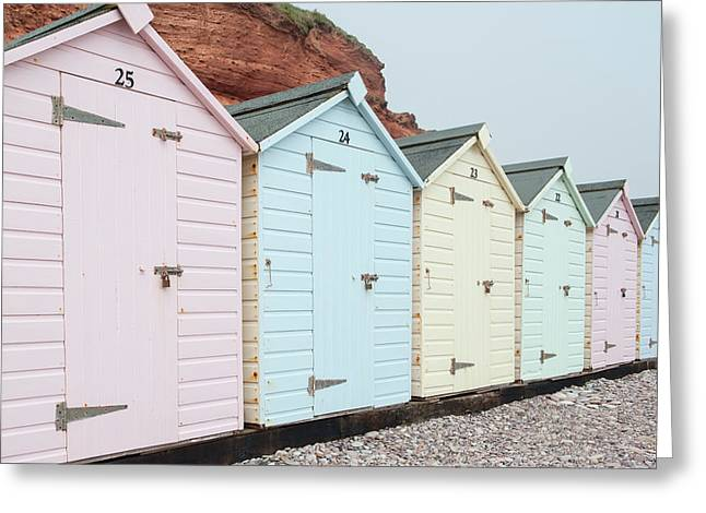 Beach Huts Vi Greeting Card