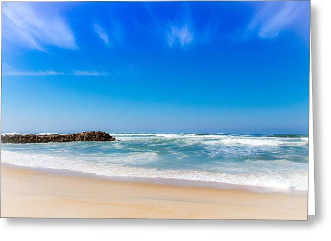 Beach In Portugal Greeting Card by Eye Contact