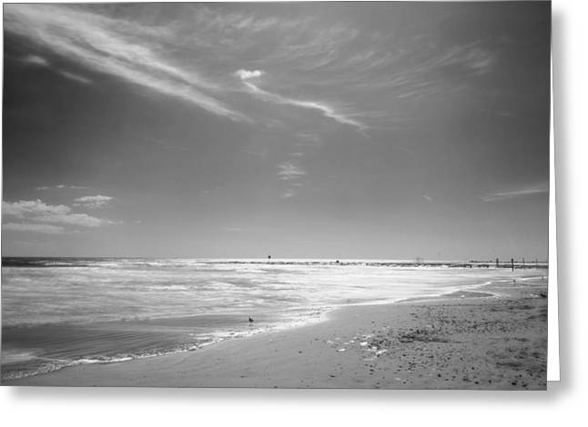 Beach Greeting Card by John Gusky