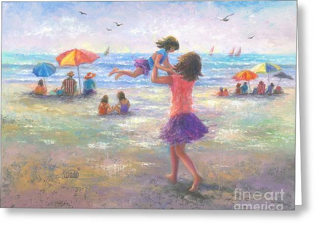 Beach Joy Greeting Card by Vickie Wade