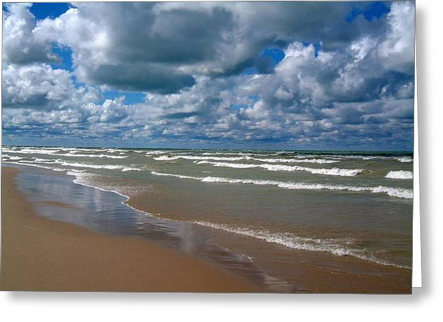 Beach Kincardine Greeting Card