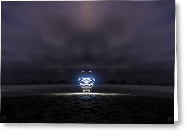 Beach Light Greeting Card by Pelo Blanco Photo