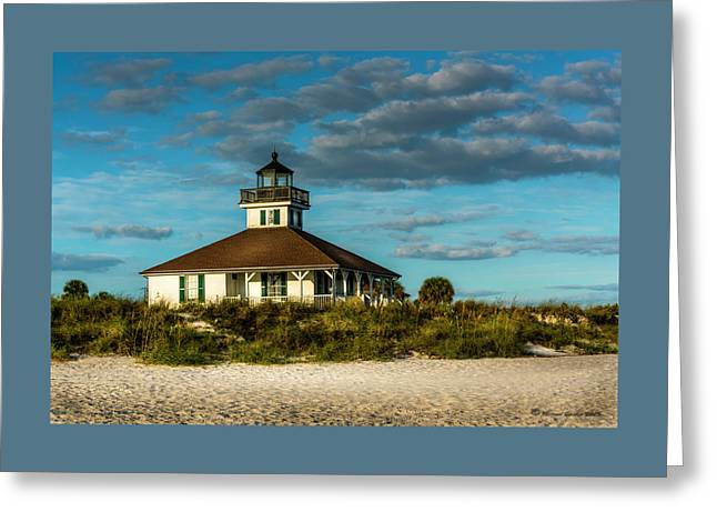Beach Lighthouse Greeting Card by Marvin Spates