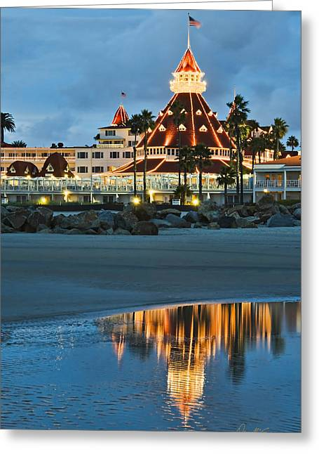 Beach Lights Greeting Card