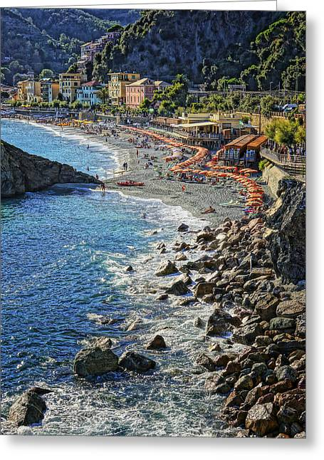 Beach Monterosso Italy Dsc02467 Greeting Card