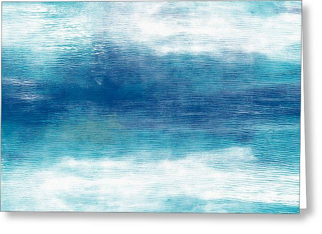 Beach Mood 2- Abstract Art By Linda Woods Greeting Card