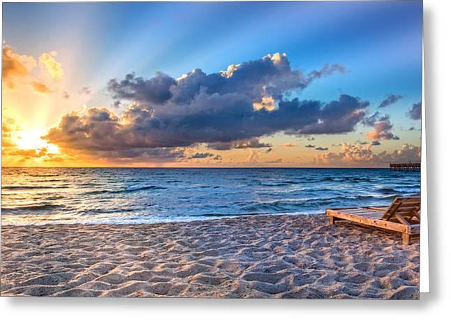 Beach Morning Greeting Card