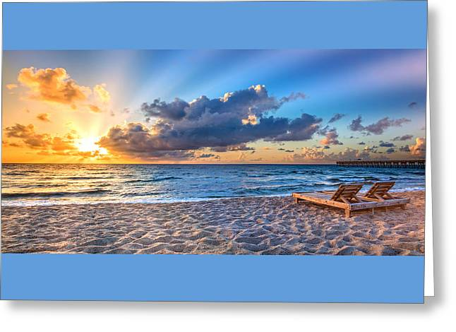 Beach Morning Greeting Card
