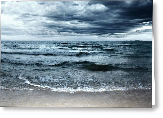 Beach Greeting Card by MotHaiBaPhoto Prints